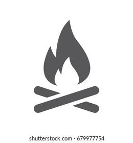 Vector campfire icon