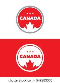 Vector Canada Emblem Set