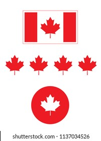 Vector Canadian Flag and Icons