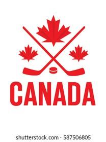 Vector Canadian Hockey Icon