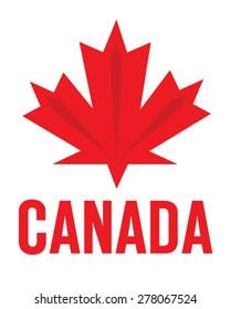 Vector Canadian Maple Leaf Emblem