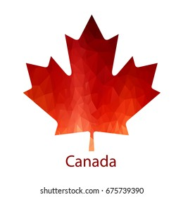 Vector Canadian Maple Leaf Icon. Simple maple leaf.