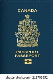 vector Canadian passport cover