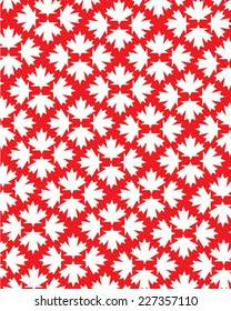 Vector Canadian Pride Maple Leaf Pattern
