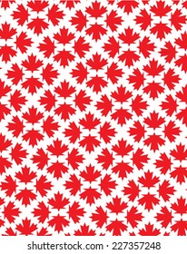 Vector Canadian Pride Maple Leaf Background