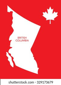 Vector Canadian Province Map - British Columbia
