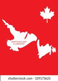 Vector Canadian Province Map - Newfoundland and Labrador