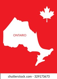 Vector Canadian Province Map - Ontario