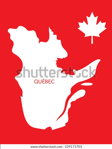 Vector Canadian Province Map Quebec Stock Vector (Royalty Free ... on