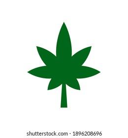 vector cannabis icon. Eps. 10.
