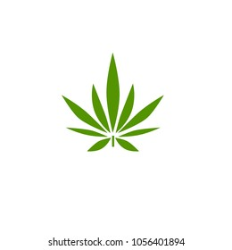 vector cannabis or marijuana icon logo for medical or pharmacy industry
