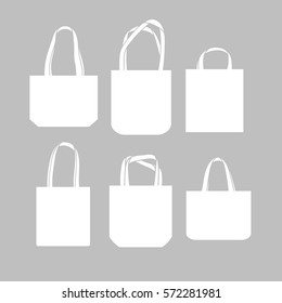 Vector canvas bags. Mock-up