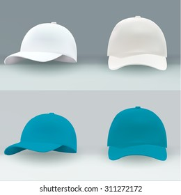 Vector cap for applying advertising logos white isolated