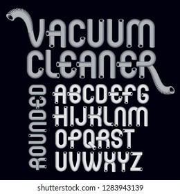 Vector capital modern alphabet letters set. Trendy font, script from a to z can be used in art  poster creation. Created with hosepipe style, plumbing.