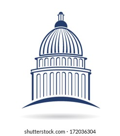 Vector Capitol building icon