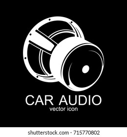 Vector car audio icon. Subwoofer.