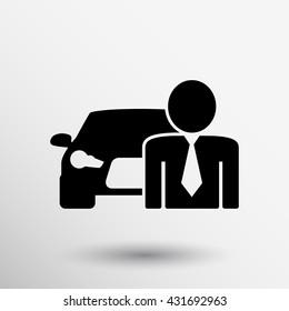 vector car dealer icon people business teamwork.