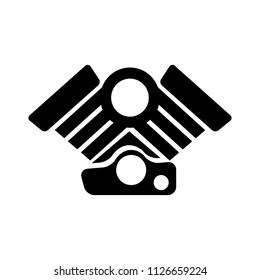 vector Car Engine illustration symbol. motor automotive power - vehicle automobile part