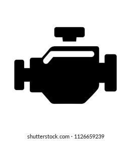 vector car engine illustration symbol - power sign, mechanic engineer