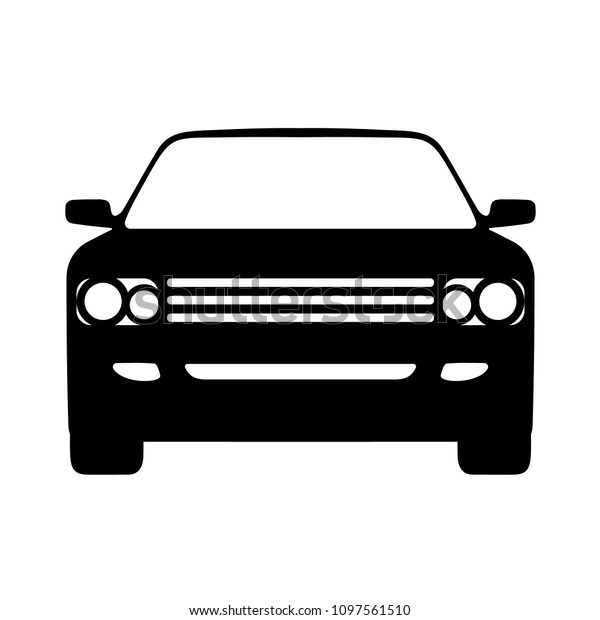 Vector Car Icon Front View On Stock Vector Royalty Free 1097561510