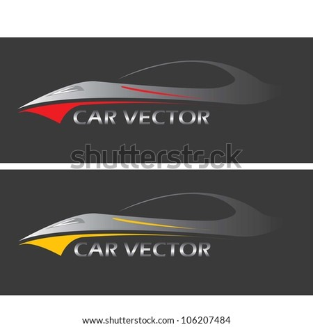 Vector Car Icon Set Fast Racing Stock Vector (Royalty Free