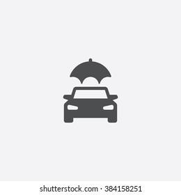Vector car insurance Icon