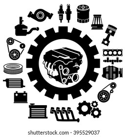 Car Parts Vector Images Stock Photos Vectors Shutterstock