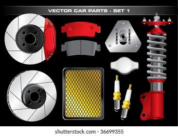 Vector Car Parts-Set 1