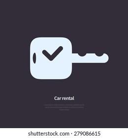 Vector car rental icon.