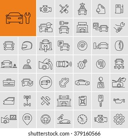 Vector car repair service icons set