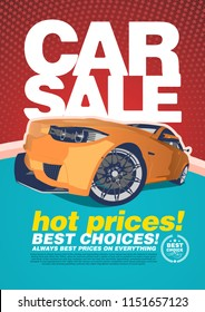 vector Car sale design template poster and brochure.