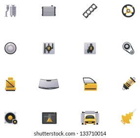 Vector car service and repair icon set. Part 2