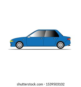 Vector car side view illustration