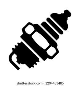vector car spark plug illustration - spark plug symbol, car spark plug sign. power engine symbol
