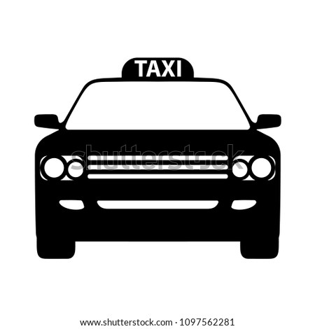 Vector Car Taxi Icon Front View Stock Vector Royalty Free