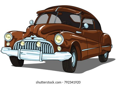 Vector car . Transparent on white background.