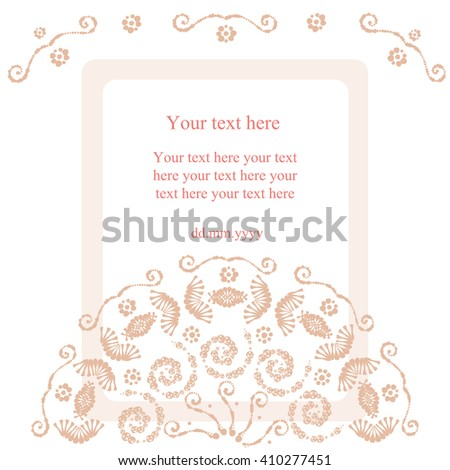 vector card background swirl pattern template stock vector royalty