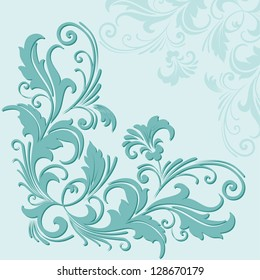 Vector card with floral elements