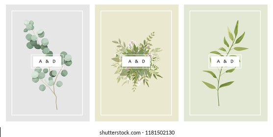vector card with flowers and leaves. Wedding ornament concept. Floral magazine, poster, invite. Vector layout decorative greeting card or invitation design background
