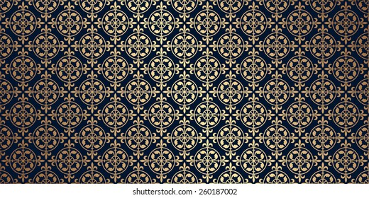 Vector Card With A Gold Pattern Design Elements In Gothic Style Perfect For