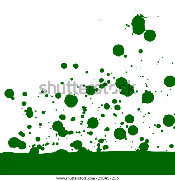 vector card with green blobs