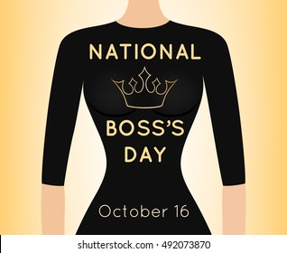 Vector card for National Boss's Day