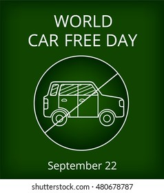 Vector card for World Car Free Day