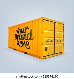 Vector of cargo container or shipping container for logistics and transportation isolated mock up