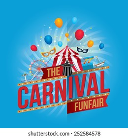 Vector carnival funfair design.