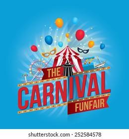 Vector carnival funfair design.