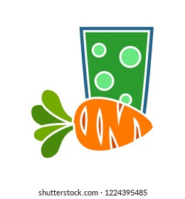 vector carrot juice icon. Flat illustration of carrot. bowling strike isolated on white background. carrot vegetable sign symbol