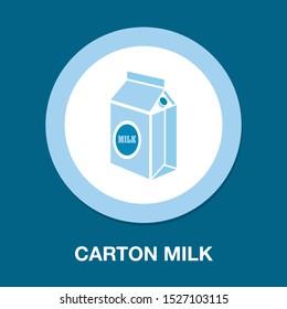 vector carton milk bottle illustration, drink symbol - healthy food, nutrition dairy