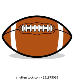 Vector Cartoon American Football Ball