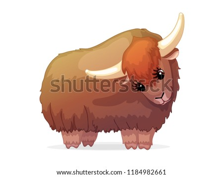 Vector Cartoon Animal Clipart Yak Stock Vektorgrafik Lizenzfrei